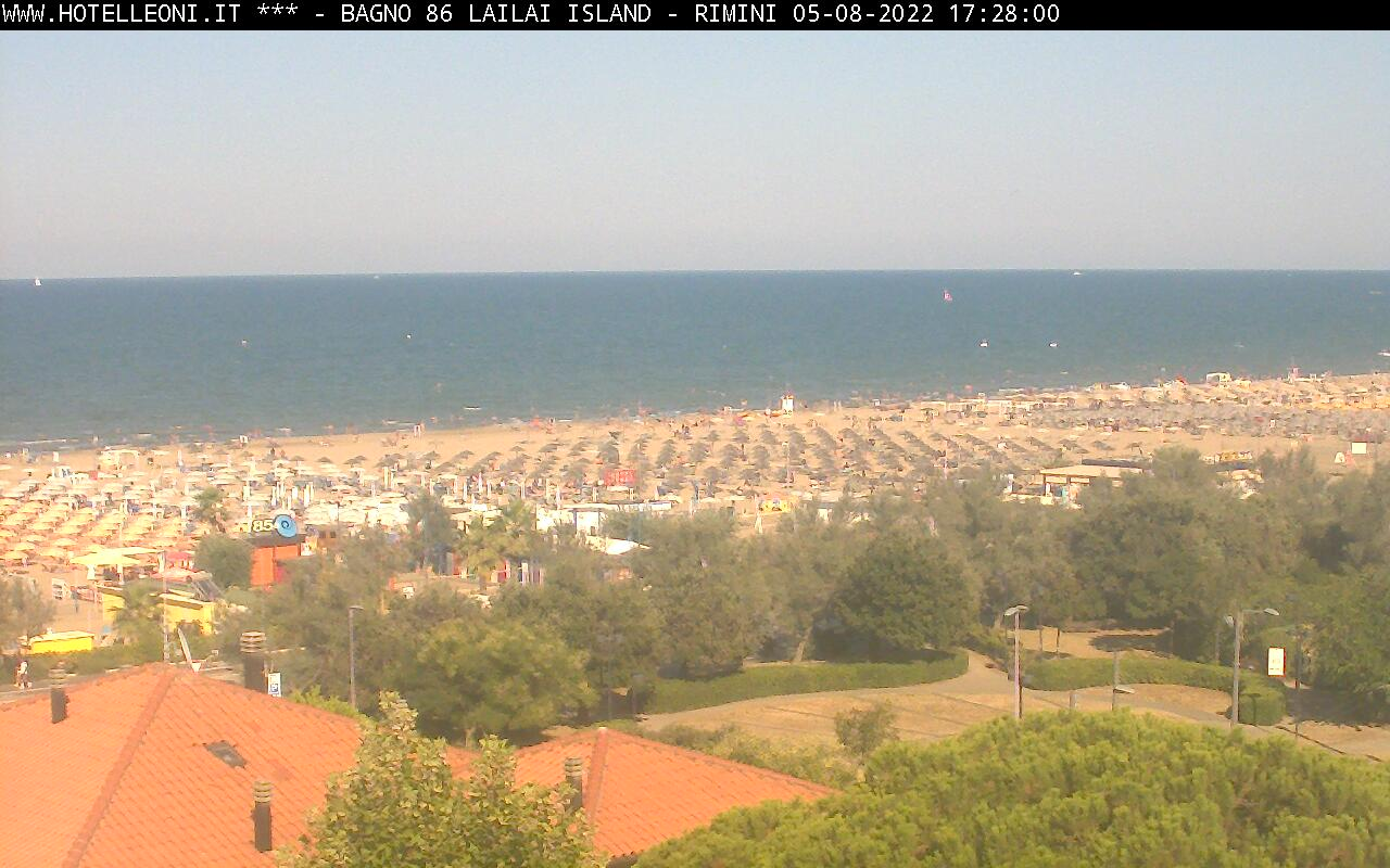 Webcam vista mare di Rimini